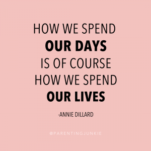 """A quote relating to call out culture that says """"How we spend our days is of course how we spend our lives."""""""